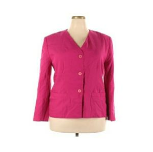 Vtg Sophisticates by Pendleton Pink Blazer 18W